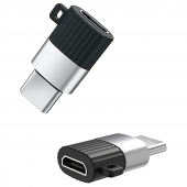 Adaptor OTG MicroUSB la USB Type-C XO Design NB149-A, Negru, Blister