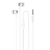 Handsfree Casti In-Ear HOCO M70, Cu microfon, 3.5 mm, Alb, Blister
