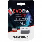 Card Memorie MicroSDXC Samsung, 128Gb, Clasa 10 / UHS-1 U1, cu mSD si Adaptor, Blister MB-MC128HA/EU