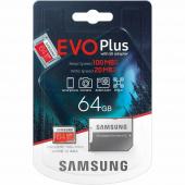 Card Memorie MicroSDXC Samsung, 64Gb, Clasa 10 / UHS-1 U1, cu mSD si Adaptor MB-MC64HA/EU