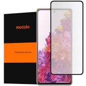 Folie Protectie Ecran Mocolo pentru Samsung Galaxy S20 FE G780, Sticla securizata, Full Face, Full Glue, 2.5D, 9H Neagra, Blister