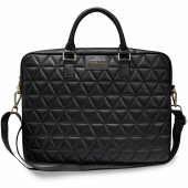 Husa Laptop Guess Quilted, 15 inci, Neagra GUCB15QLBK