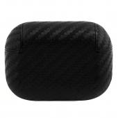 Husa Protectie Casti BMW M Carbon pentru Apple AirPods Pro, Neagra BMAPCMPUCA