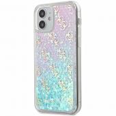Husa Plastic - TPU Guess 4G Liquid Glitter Iridescent pentru Apple iPhone 12 Pro Max, Multicolor GUHCP12LLG4GGBLPI
