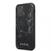 Husa TPU Guess Marble pentru Apple iPhone 12 / Apple iPhone 12 Pro, Neagra GUHCP12MPCUMABK