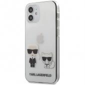 Husa Plastic - TPU Karl Lagerfeld pentru Apple iPhone 12 Pro Max, Karl &Choupette, Transparenta, Blister KLHCP12LCKTR
