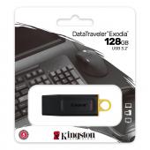 Memorie Externa Kingston DT Exodia, 128Gb, USB 3.2, Neagra Galbena DTX/128GB
