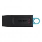 Memorie Externa Kingston DT Exodia, 64Gb, USB 3.2, Neagra Albastra DTX/64GB