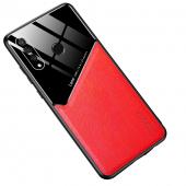 Husa Piele OEM All-inclusive pentru Huawei P30 lite, Rosie, Bulk