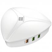 Incarcator Retea Statie USB Ldnio A6801, 6 x USB, 40W, Quick Charge, Alb