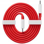 Cablu Date si Incarcare USB Type-C la USB Type-C OnePlus Warp Charge 65, 1 m, Rosu 5481100047