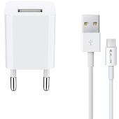 Incarcator Retea cu cablu USB Tip-C JELLICO A11, 1 X USB, 1A, Alb, Blister
