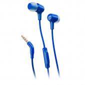 Handsfree Casti In-Ear JBL E15, Cu microfon, 3.5 mm, Albastru