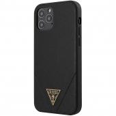Husa TPU Guess Saffiano V Stitch pentru Apple iPhone 12 / Apple iPhone 12 Pro, Neagra, Blister GUHCP12MVSATMLBK