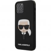 Husa TPU Karl Lagerfeld Head pentru Apple iPhone 12 Pro Max, Neagra KLHCP12LSLKHBK