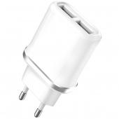 Incarcator Retea USB XO Design L52, 2 X USB, 2.1A, Alb, Blister