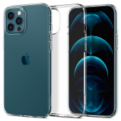 Husa TPU Spigen Liquid Crystal pentru Apple iPhone 12 / Apple iPhone 12 Pro, Transparenta, Blister ACS01697