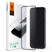 Folie Protectie Ecran Spigen Slim pentru Apple iPhone 12 Pro / Apple iPhone 12, Sticla securizata, Blister AGL01511