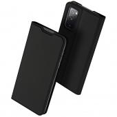 Husa Piele DUX DUCIS Skin Pro pentru Samsung Galaxy S20 FE G780, Neagra, Blister