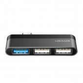 Hub USB Type-C Usams - 3xUSB, Gri SJ461HUB01