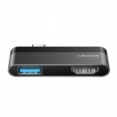 Hub USB Type-C Usams - USB+HDMI, Gri SJ462HUB01