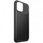 Husa Fibra Carbon UNIQ Hexa pentru Apple iPhone 12 / Apple iPhone 12 Pro, Neagra
