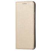Husa Piele OEM Smart Magnet pentru Samsung Galaxy A20s, Aurie, Bulk