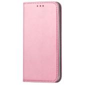 Husa Piele OEM Smart Magnet pentru Samsung Galaxy S20 FE G780, Roz Aurie, Bulk