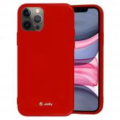 Husa TPU Goospery Jelly pentru Apple iPhone 12 Pro Max, Rosie