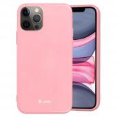 Husa TPU Goospery Jelly pentru Apple iPhone 12 mini, Roz Deschis