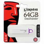 Memorie Externa Kingston G4, 64Gb, USB 3.0, Alba DTIG4/64GB