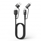 Cablu Date si Incarcare USB Type-C / USB - USB Type-C / Lighting McDodo, 4in1, 1.2 m, Negru CA-8070