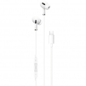 Handsfree Casti In-Ear XO Design EP23, Cu microfon, USB Type-C, Alb
