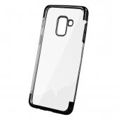 Husa TPU OEM Electro pentru Xiaomi Redmi Note 9 Pro / Xiaomi Redmi Note 9S, Neagra Transparenta, Bulk