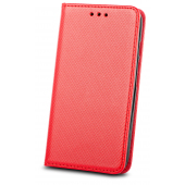 Husa Piele OEM Smart Magnet pentru Motorola Moto G9 Play, Rosie, Bulk