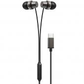Handsfree Casti In-Ear XO Design EP27, Cu microfon, USB Type-C, Negru