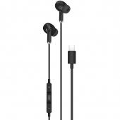 Handsfree Casti In-Ear XO Design EP23, Cu microfon, USB Type-C, Negru