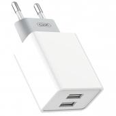 Incarcator Retea USB XO Design L65, 2 X USB, 2.4A, Alb