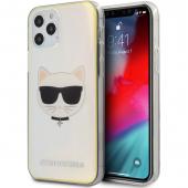 Husa Plastic - TPU Karl Lagerfeld Choupette Head pentru Apple iPhone 12 / Apple iPhone 12 Pro, Transparenta Multicolor KLHCP12MCIR