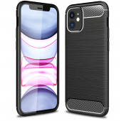 Husa TPU OEM Carbon pentru Apple iPhone 12 mini, Neagra, Bulk