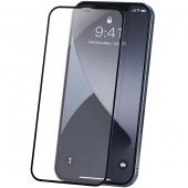 Folie Protectie Ecran Baseus pentru Apple iPhone 12 / Apple iPhone 12 Pro, Sticla securizata, Full Face, Full Glue, Set 2buc, 0.23mm, Neagra, Blister SGAPIPH61P-PE01