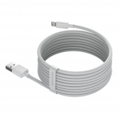 Cablu Date si Incarcare USB la Lightning Baseus, 1.5 m, 2.4A, (Set 2 Bucati), Alb TZCALZJ-02