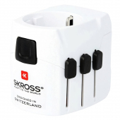 Adaptor Priza Skross Pro Light USB Travel, 2 X USB, Alb