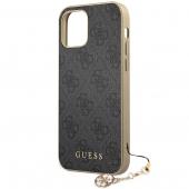 Husa TPU Guess Charms 4G pentru Apple iPhone 12 Pro Max, Gri GUHCP12LGF4GGR