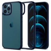 Husa Plastic - TPU Spigen ULTRA HYBRID pentru Apple iPhone 12 Pro Max, Bleumarin ACS02248