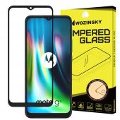 Folie Protectie Ecran WZK pentru Motorola Moto G9 Play / Motorola Moto E7 Plus, Sticla securizata, Full Face, Full Glue, Neagra