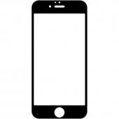 Folie Protectie Ecran OEM pentru Apple iPhone 7 Plus / Apple iPhone 8 Plus, 10D, 9H, Sticla securizata, Full Face, Full Glue, Neagra