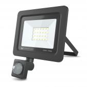 Proiector LED Forever PROXIM II 20W |4500K| PIR IP66, cu Senzori de Miscare, pentru Exterior, Neagra
