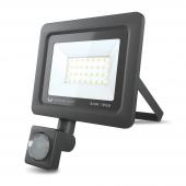 Proiector LED Forever PROXIM II, 30W, 6000K, PIR IP66, cu Senzori de Miscare, pentru Exterior, Neagra