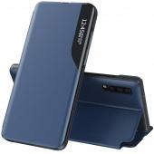 Husa Piele OEM Eco Leather View pentru Samsung Galaxy S10 G973, cu suport, Albastra